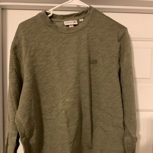 Men's Lacoste crew neck slub sweatshirt-large